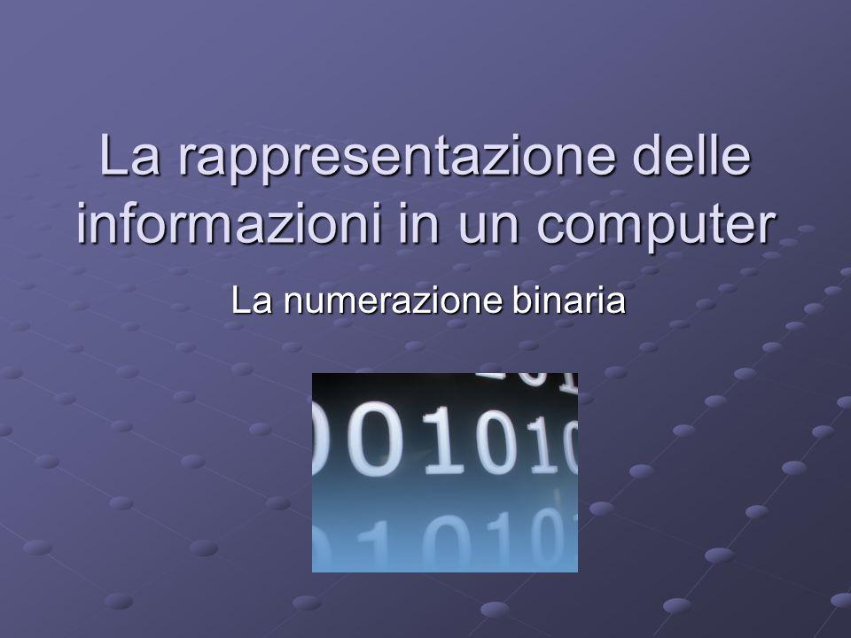 La rappresentazione delle informazioni in un computer