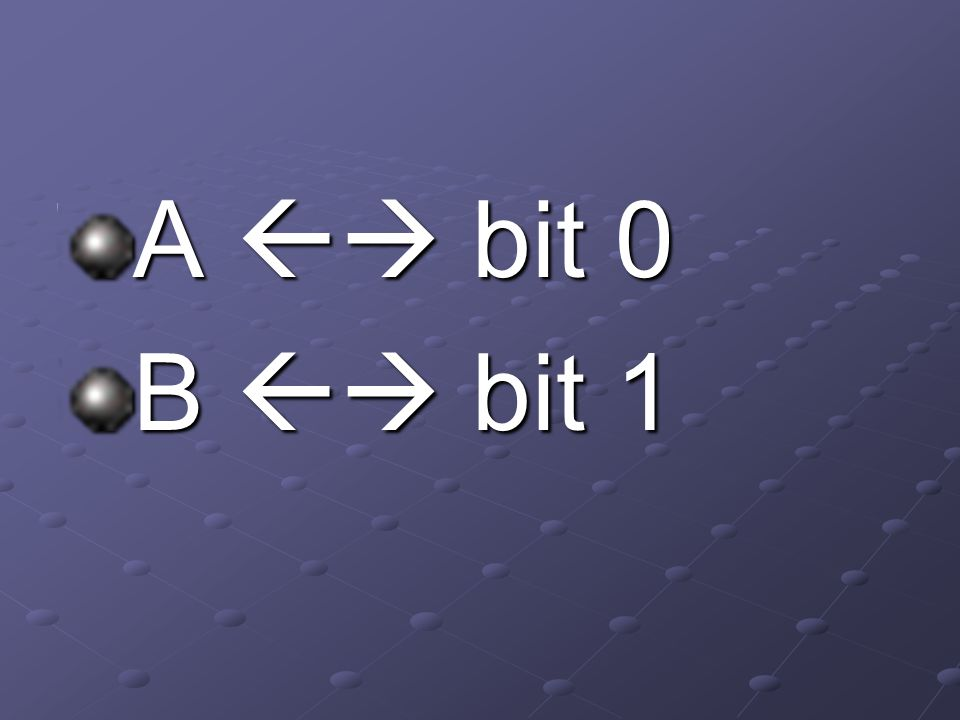 A  bit 0 B  bit 1