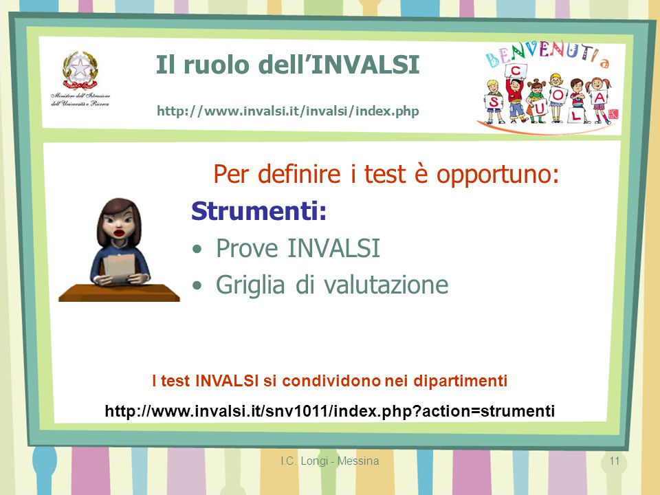 Il ruolo dell'INVALSI http://www.invalsi.it/invalsi/index.php