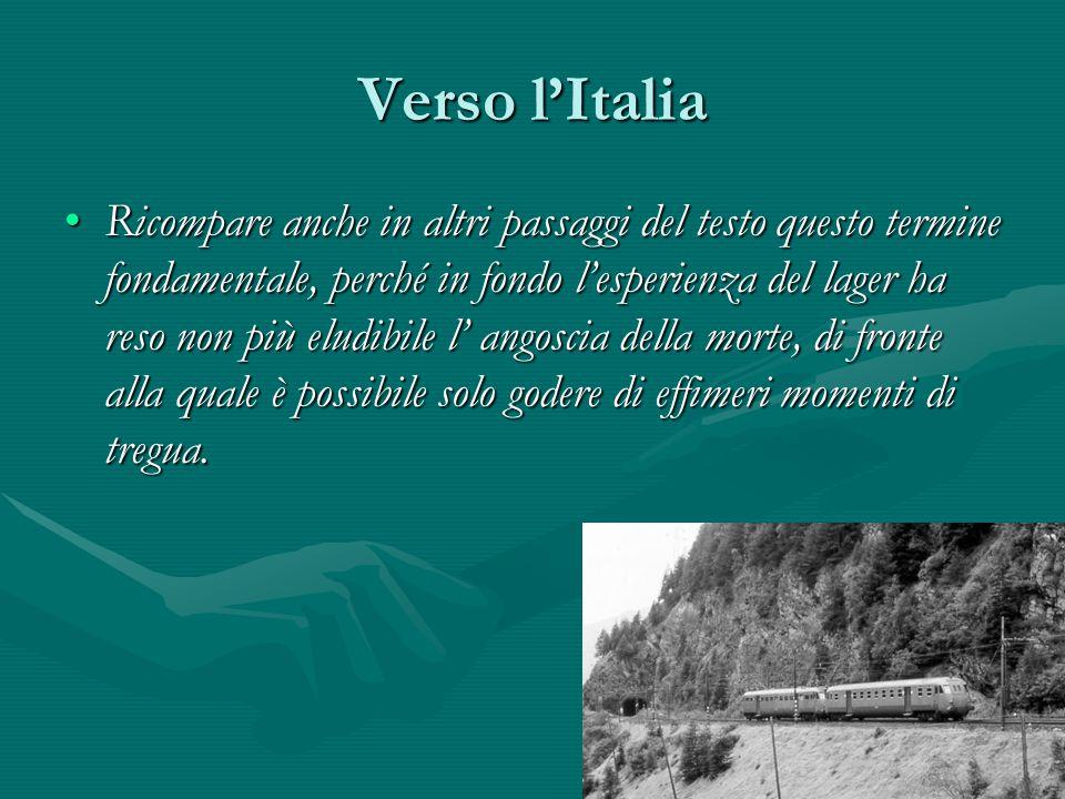 Verso l'Italia