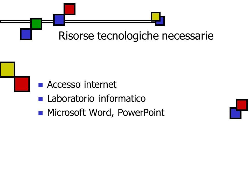 Risorse tecnologiche necessarie