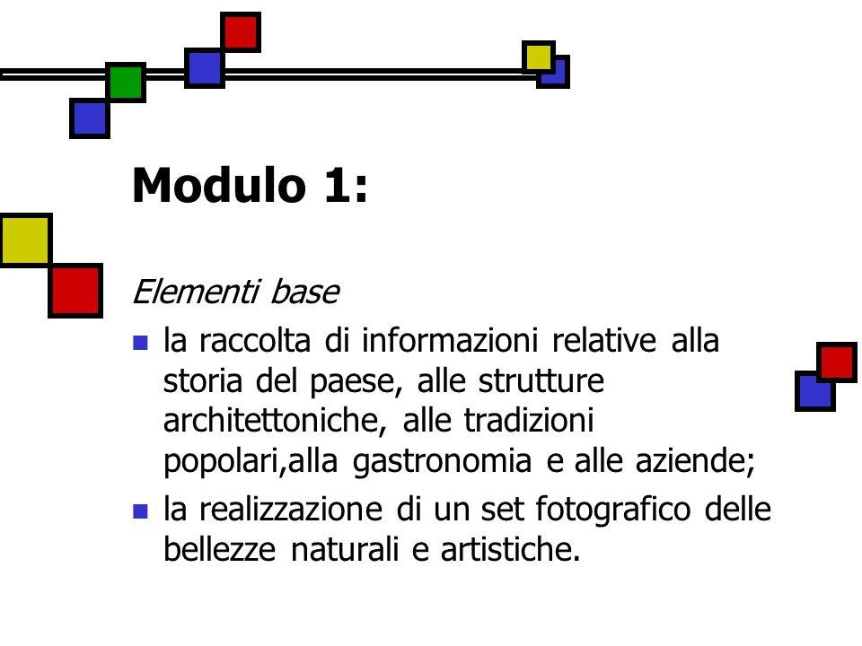 Modulo 1: Elementi base.