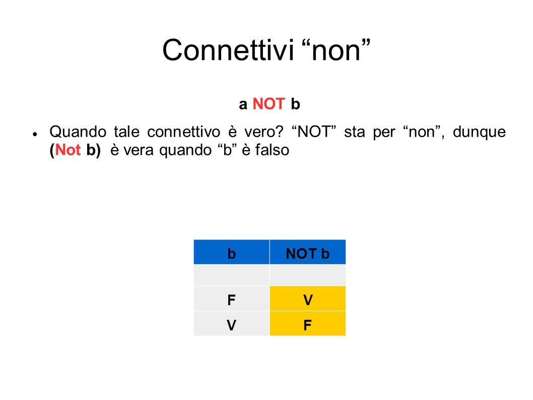 Connettivi non a NOT b
