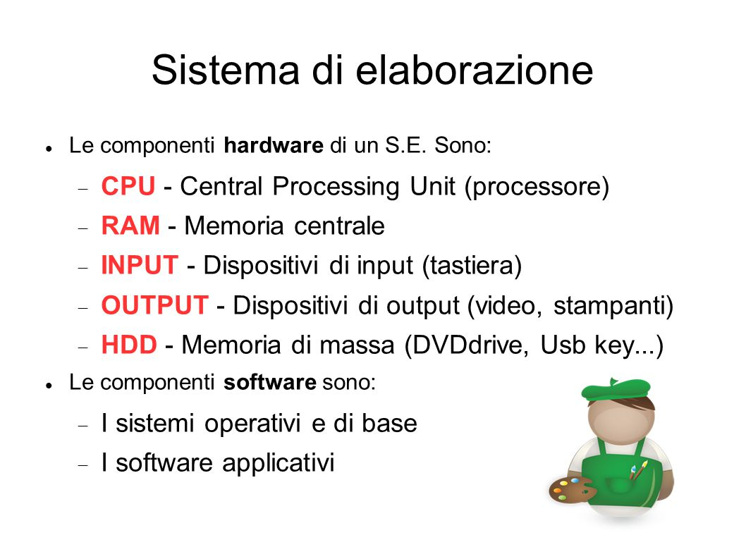 Sistema di elaborazione