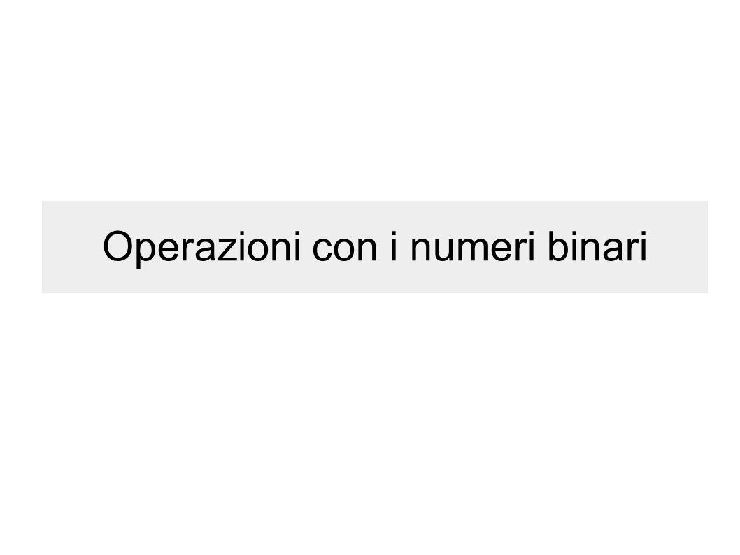 Operazioni con i numeri binari