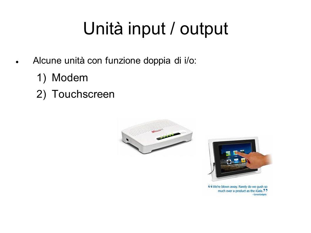 Unità input / output Modem Touchscreen