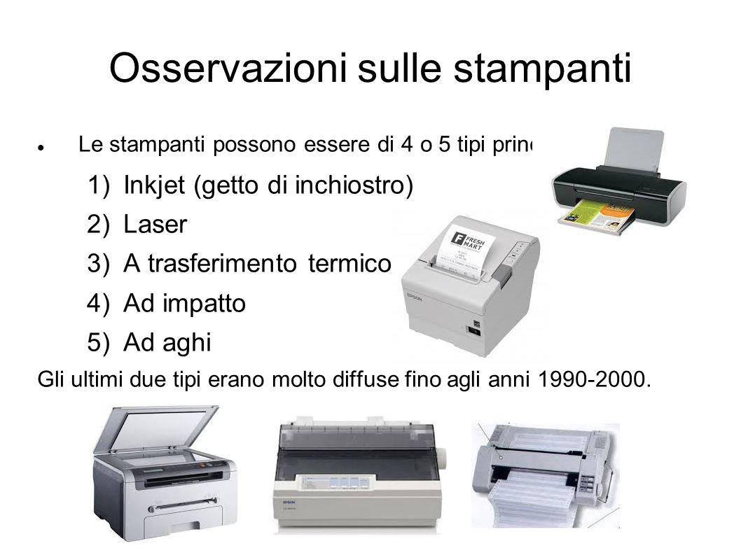 Osservazioni sulle stampanti