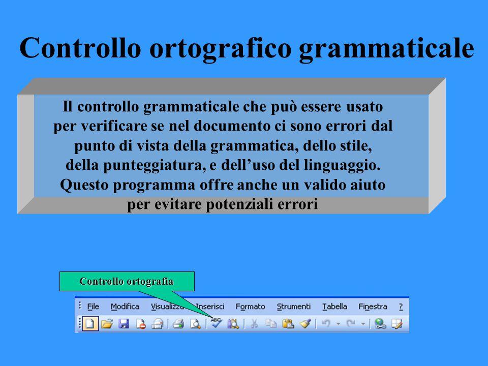 Controllo ortografico grammaticale