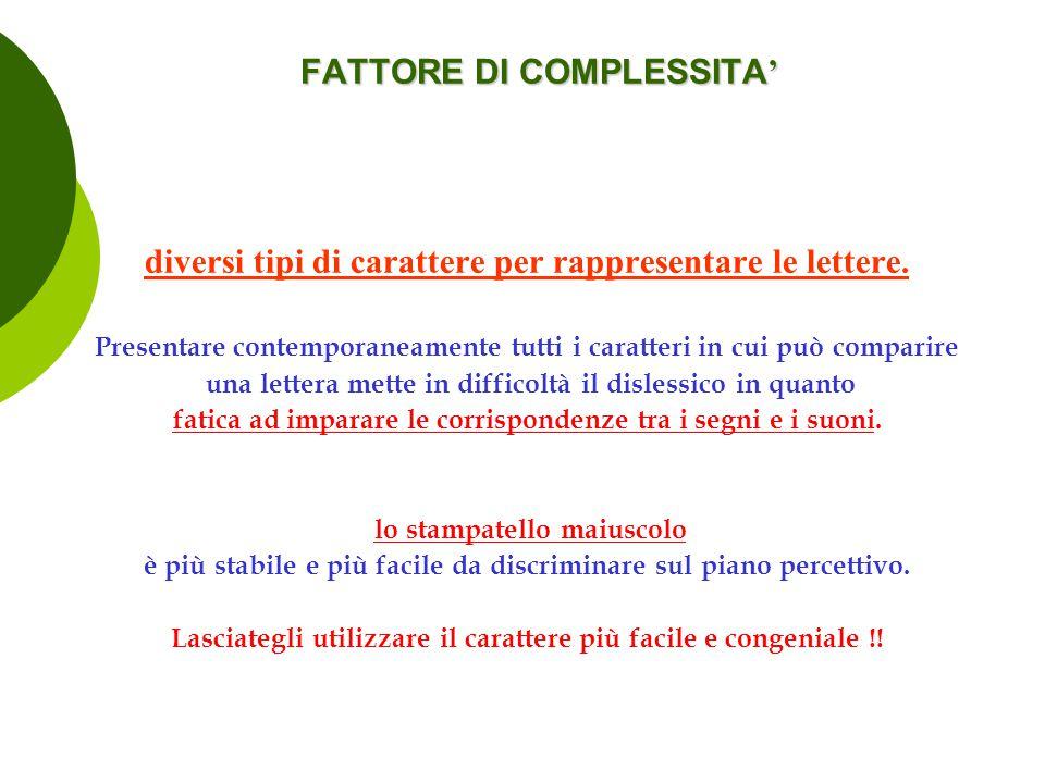 FATTORE DI COMPLESSITA'