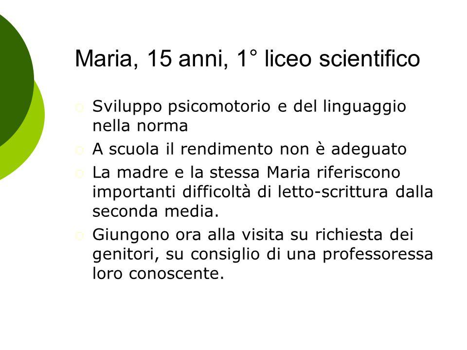 Maria, 15 anni, 1° liceo scientifico