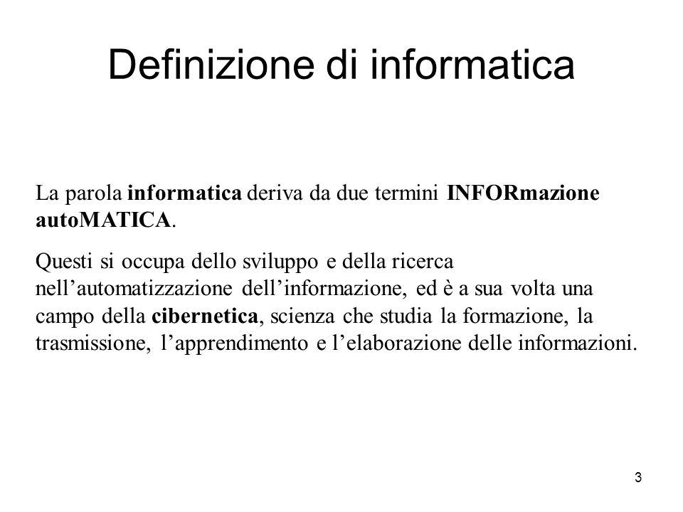 Definizione di informatica