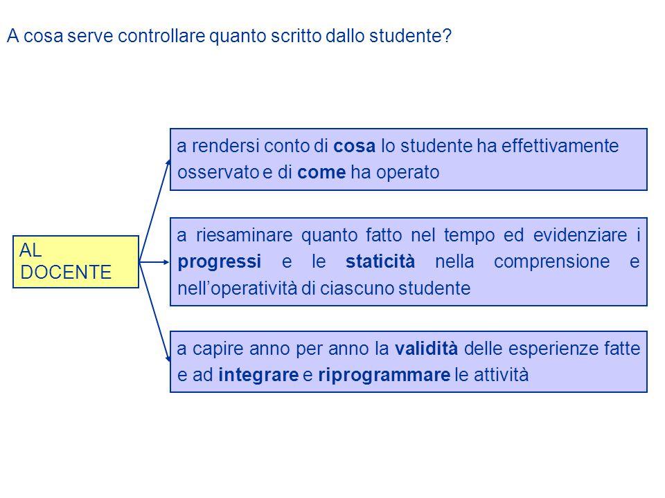 A cosa serve controllare quanto scritto dallo studente