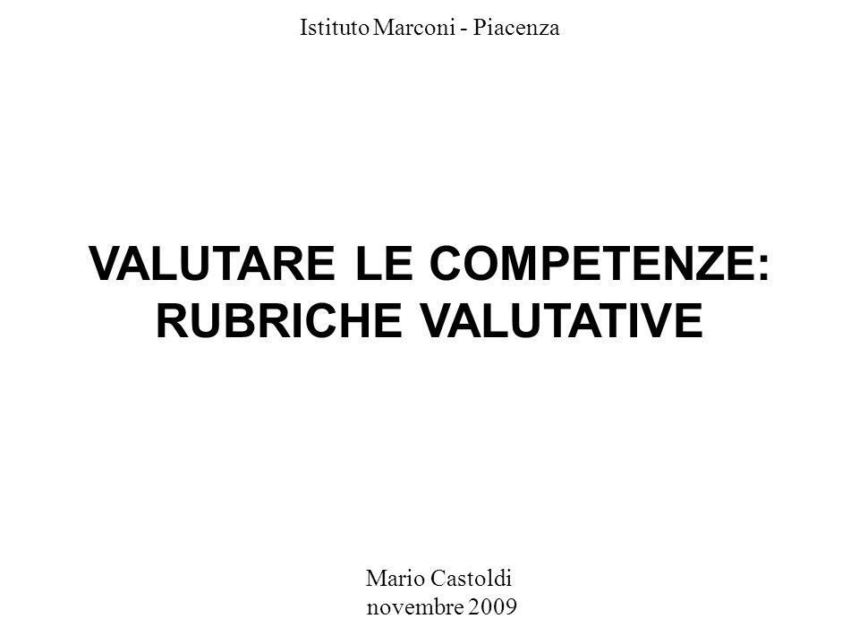 VALUTARE LE COMPETENZE: