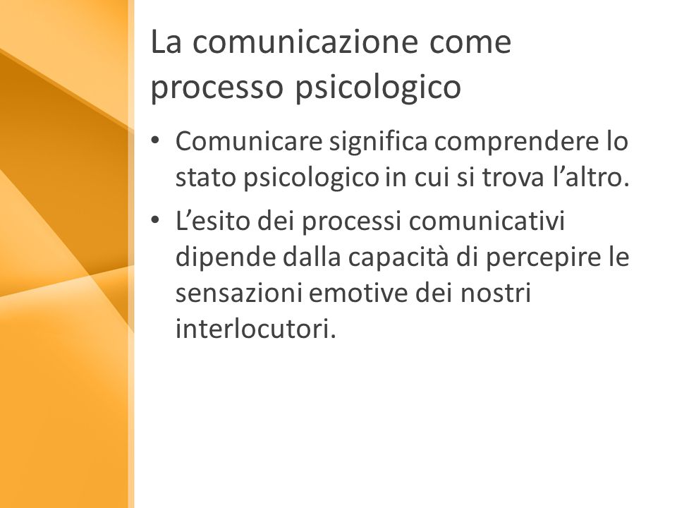 La comunicazione come processo psicologico