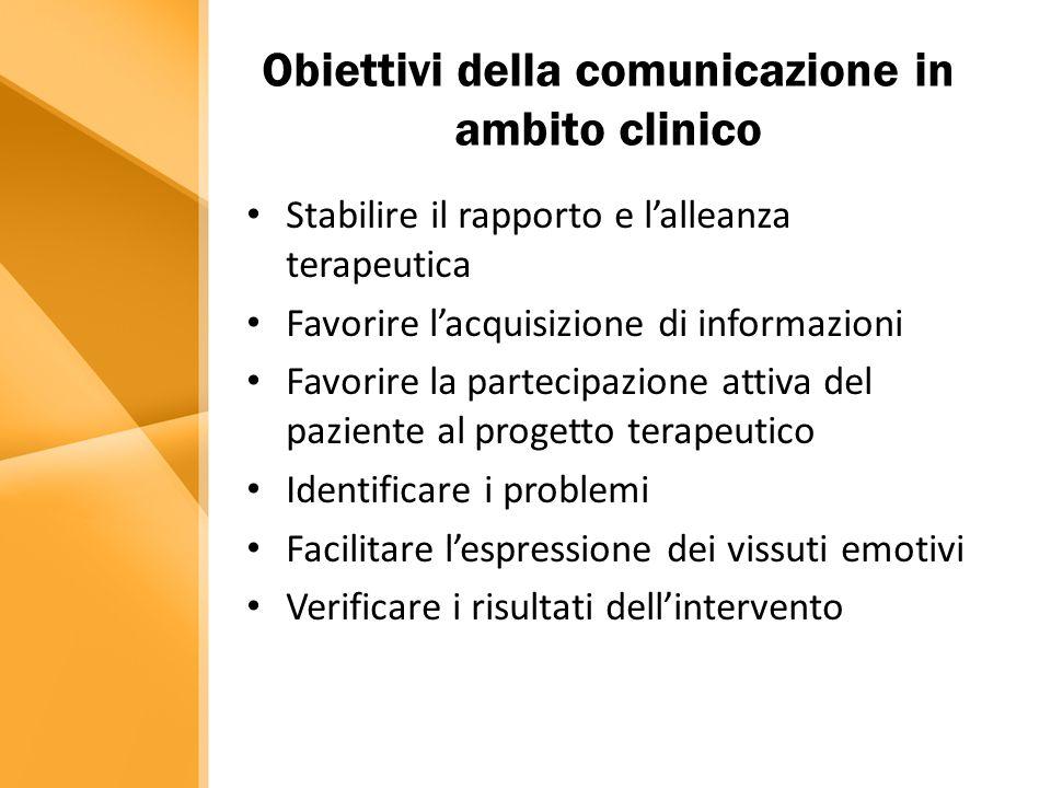 Obiettivi della comunicazione in ambito clinico