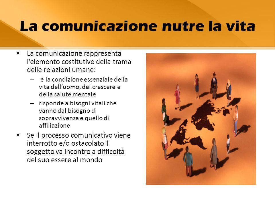 La comunicazione nutre la vita
