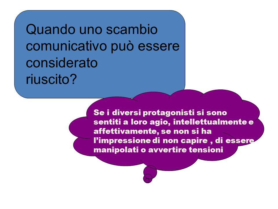 Quando uno scambio comunicativo può essere considerato