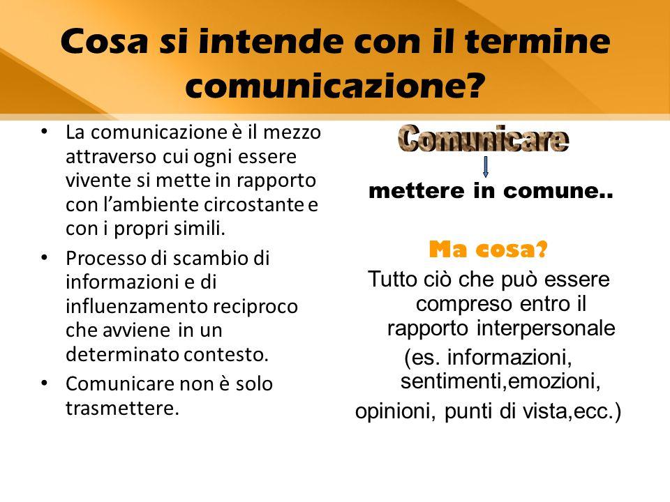 Cosa si intende con il termine comunicazione