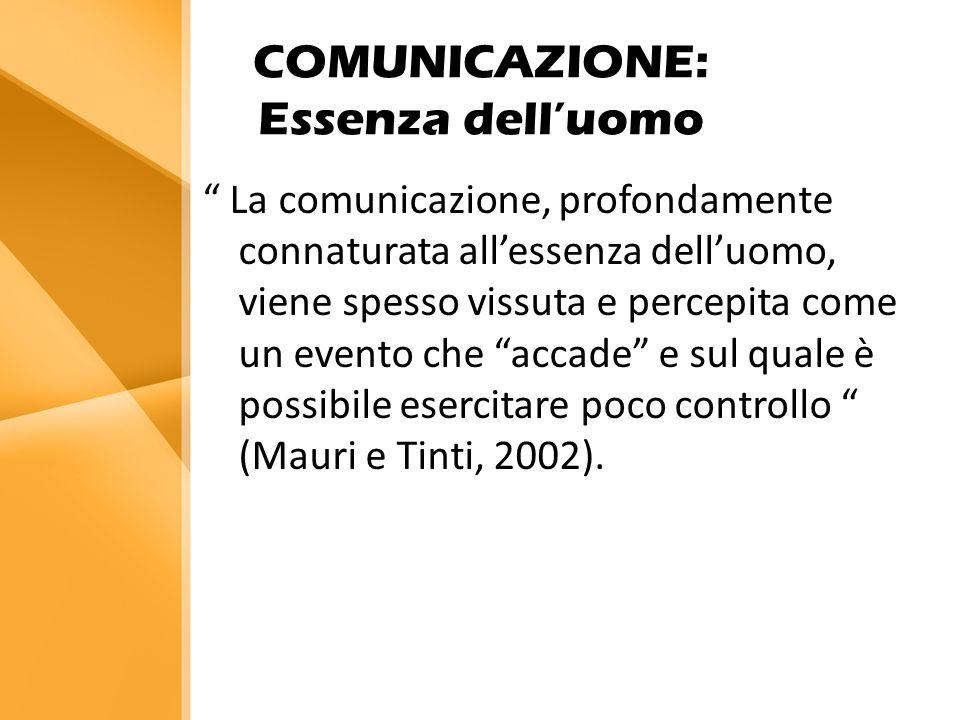 COMUNICAZIONE: Essenza dell'uomo