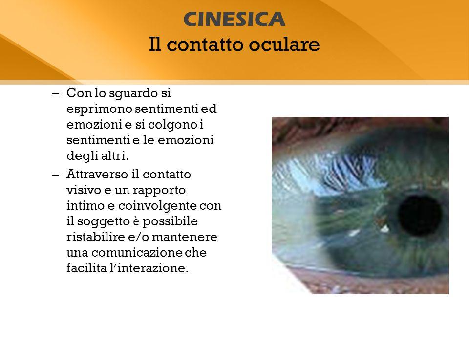 CINESICA Il contatto oculare