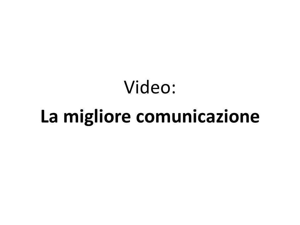 Video: La migliore comunicazione
