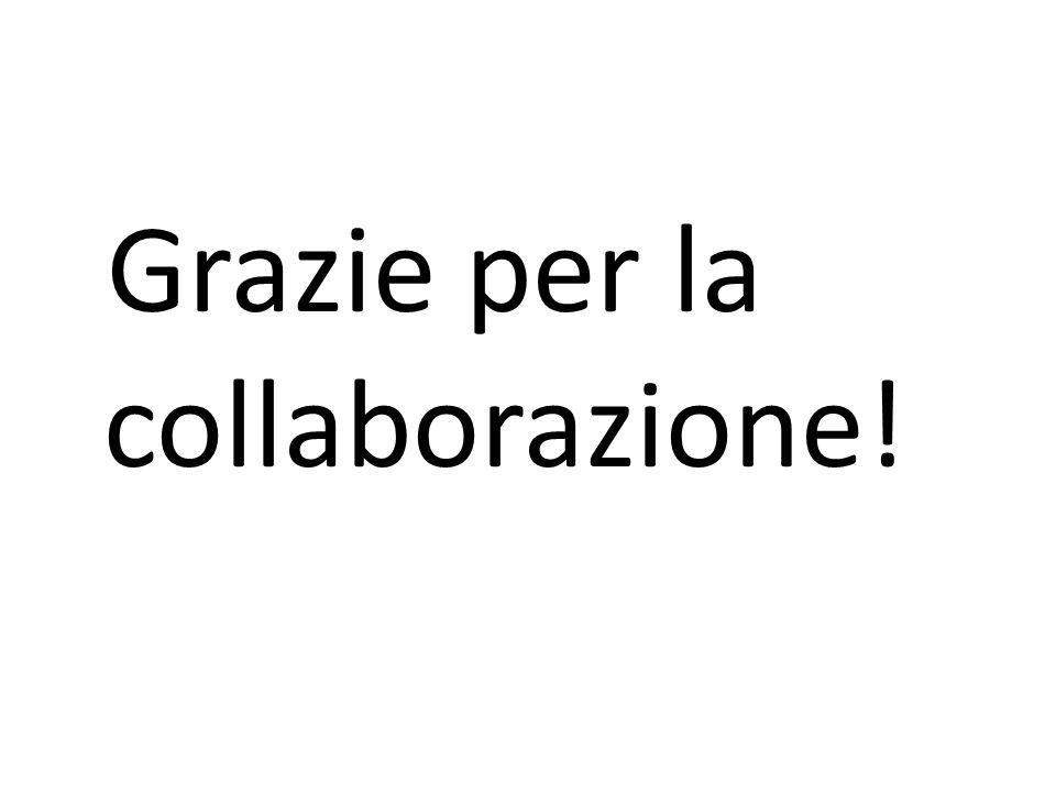 Grazie per la collaborazione!