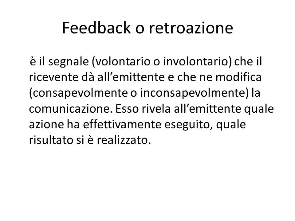 Feedback o retroazione