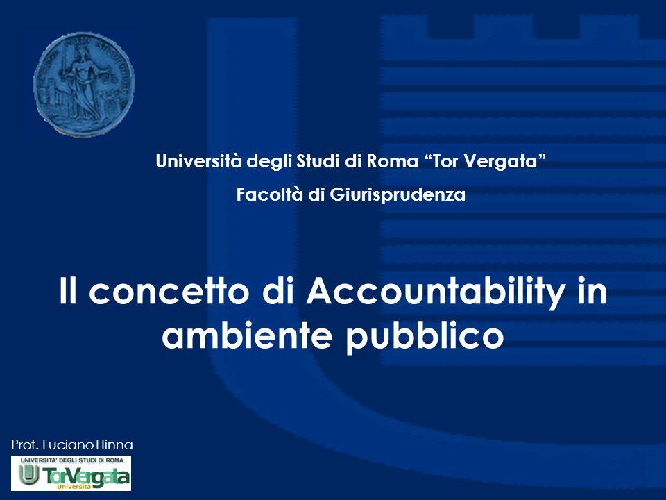Il concetto di Accountability in ambiente pubblico