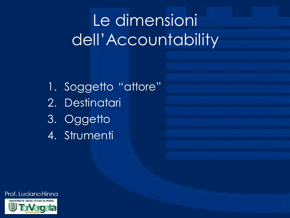 Le dimensioni dell'Accountability