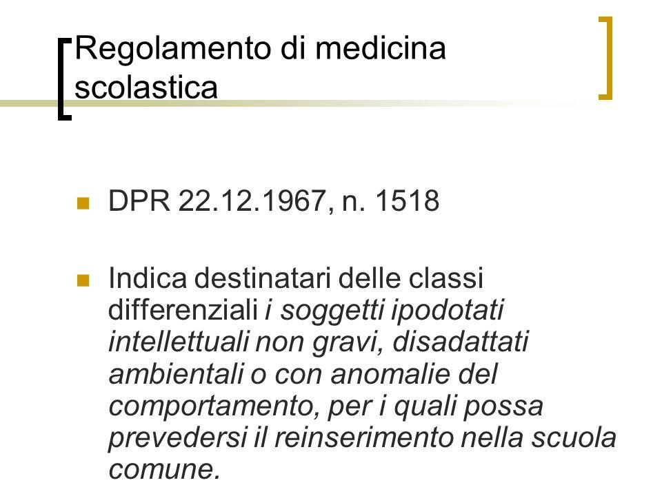 Regolamento di medicina scolastica