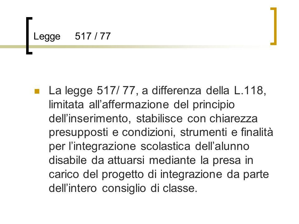 Legge 517 / 77