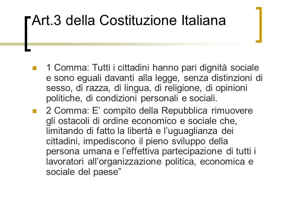Art.3 della Costituzione Italiana