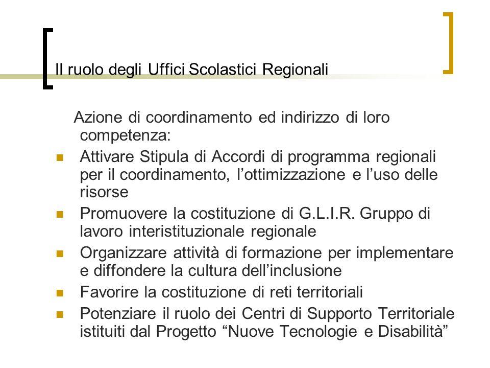 Il ruolo degli Uffici Scolastici Regionali