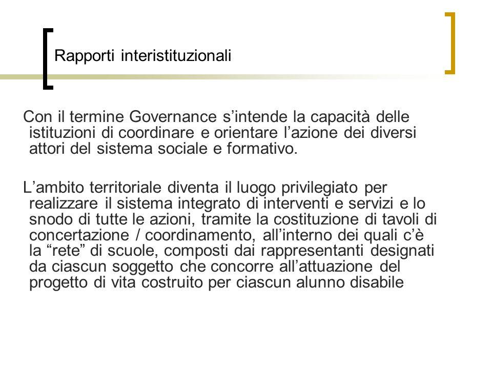 Rapporti interistituzionali