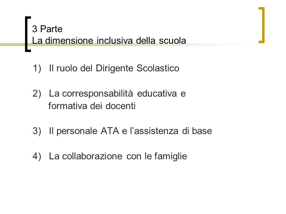 3 Parte La dimensione inclusiva della scuola