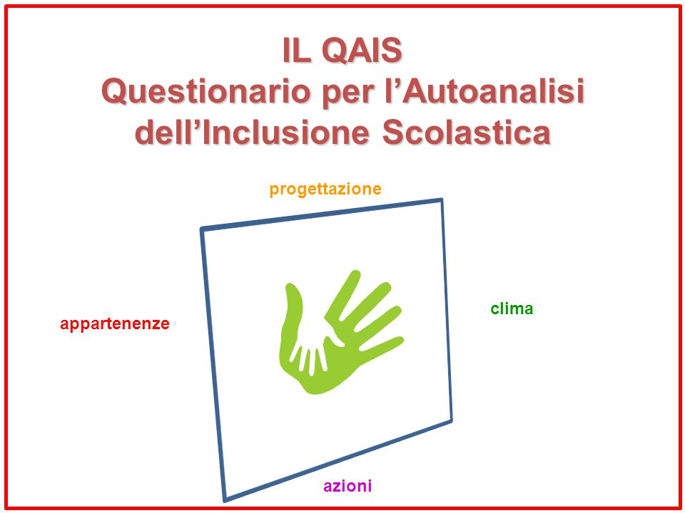 Questionario per l'Autoanalisi dell'Inclusione Scolastica
