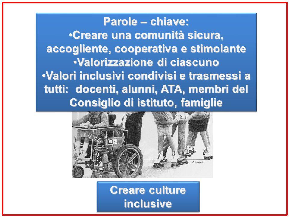 Creare una comunità sicura, accogliente, cooperativa e stimolante