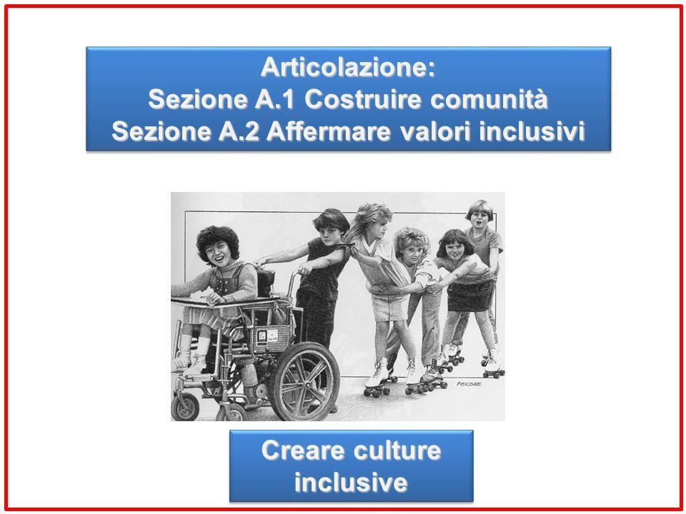 Sezione A.1 Costruire comunità Sezione A.2 Affermare valori inclusivi