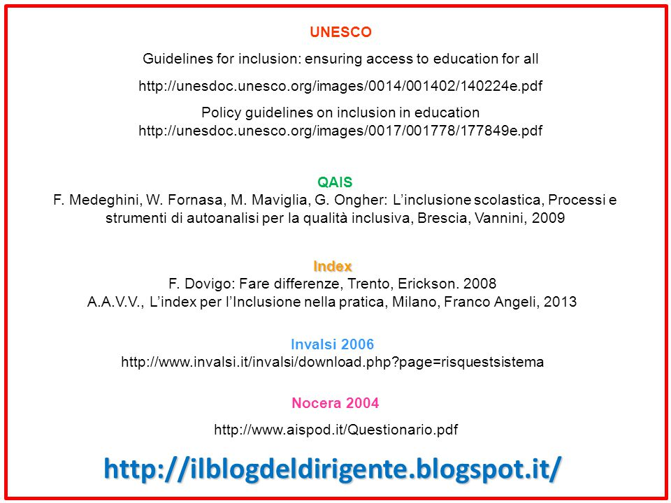 http://ilblogdeldirigente.blogspot.it/ UNESCO
