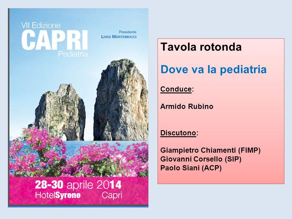 Tavola rotonda Dove va la pediatria Conduce: Armido Rubino Discutono: