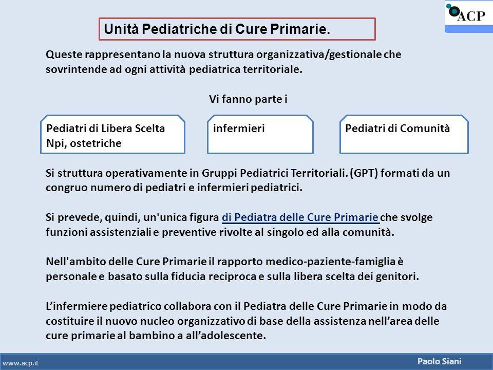 Unità Pediatriche di Cure Primarie.