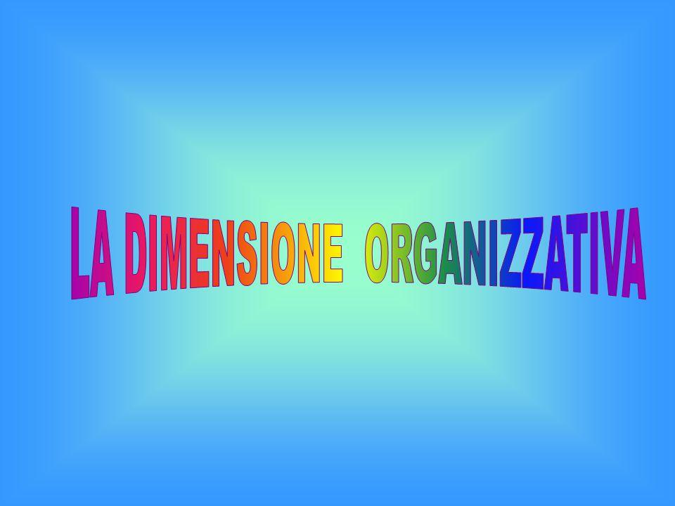 LA DIMENSIONE ORGANIZZATIVA