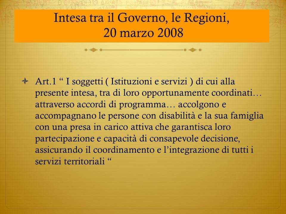 Intesa tra il Governo, le Regioni,