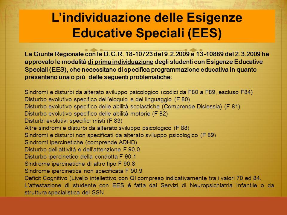 L'individuazione delle Esigenze Educative Speciali (EES)