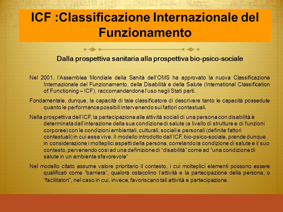 ICF :Classificazione Internazionale del Funzionamento
