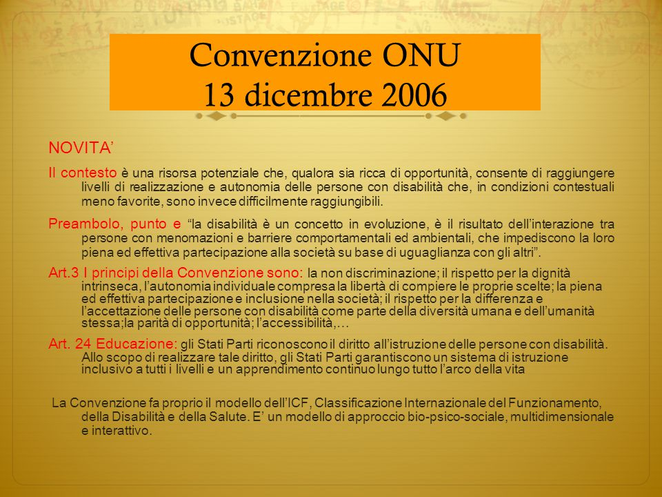 Convenzione ONU 13 dicembre 2006