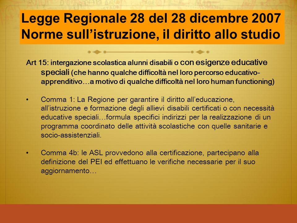 Legge Regionale 28 del 28 dicembre 2007