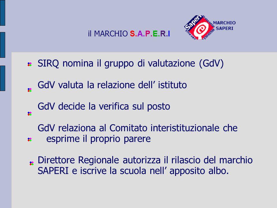 SIRQ nomina il gruppo di valutazione (GdV)