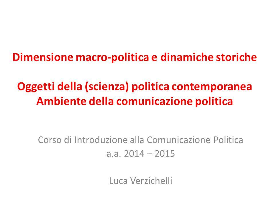 Corso di Introduzione alla Comunicazione Politica