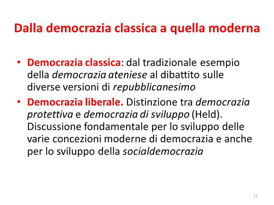 Dalla democrazia classica a quella moderna